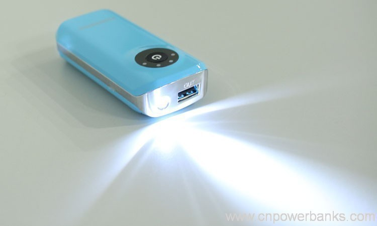 Portable Cell Phone Charger Power Bank 5200mah Led Light