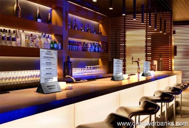 Safety Lock Menu Power Bank For Coffee Shop Bar Hengye